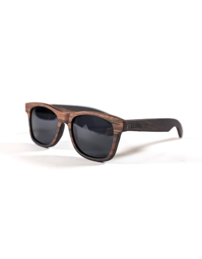 wooden sunglasses from the side