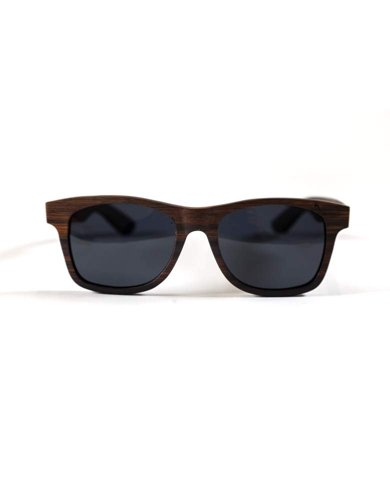 ebony wood sunglasses from the front