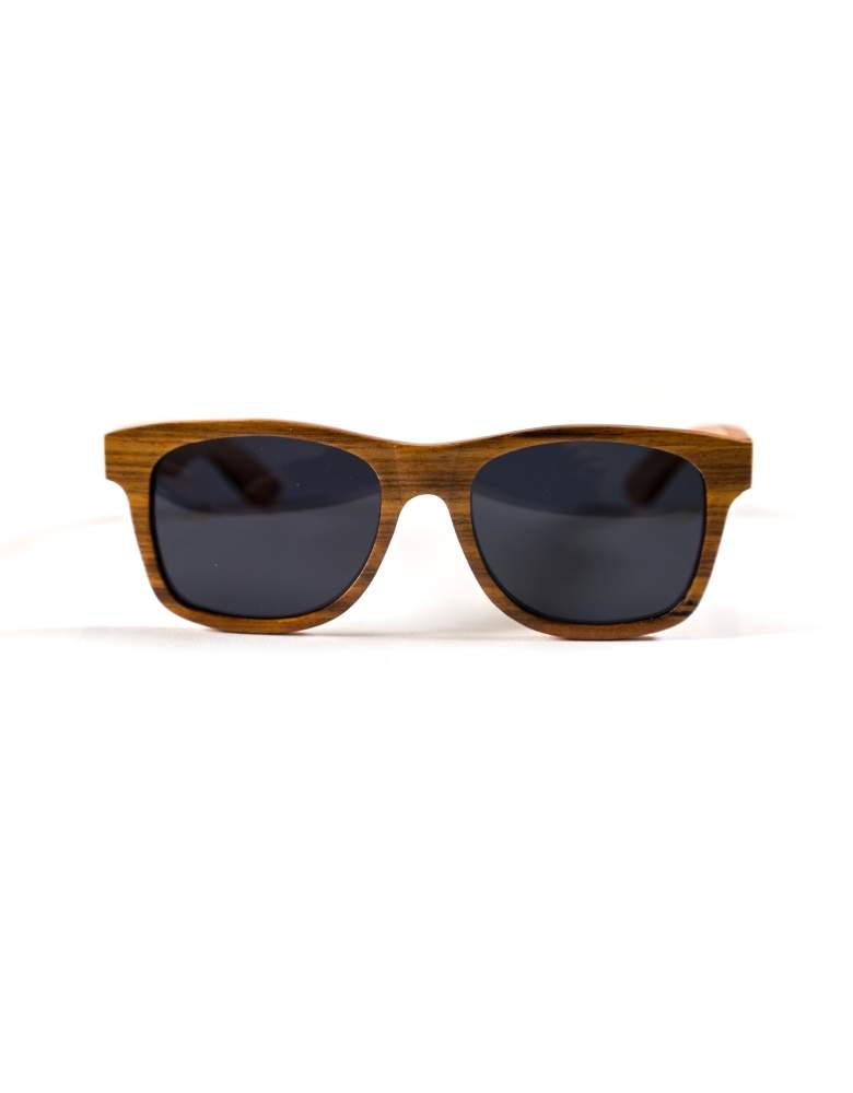 zebra wood sunglasses from the front