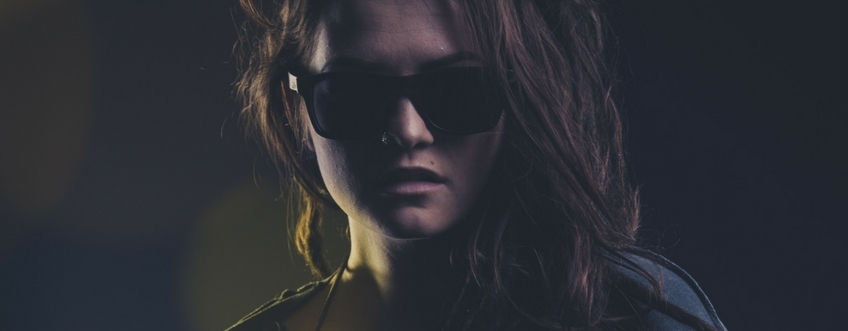 Sloth worker girl wooden sunglasses