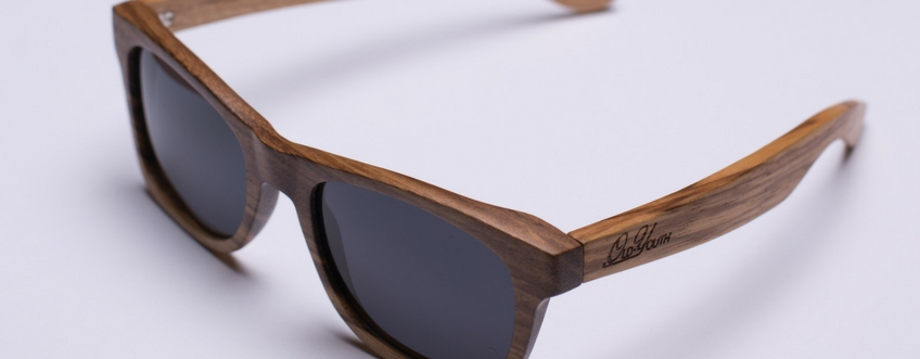 Sloth worker zebra wood sunglasses
