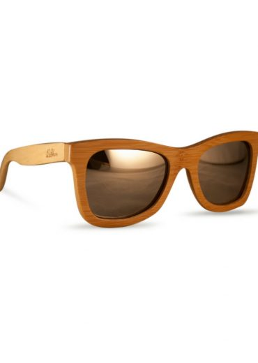 reflective wooden sunglasses