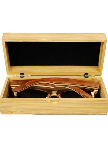 skateboard wood sunglasses in case